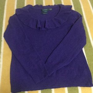 Ralph Lauren  XL 100% Cashmere Sweater Dark Purple